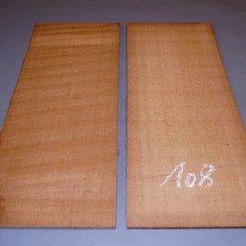 Red Cedar tops, approx. 590 x 230 x 5 mm