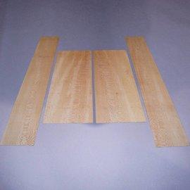 Platane Set Böden & Zargen, ca. 570 x 220 x 4 mm und 870 x 140 x 4 mm