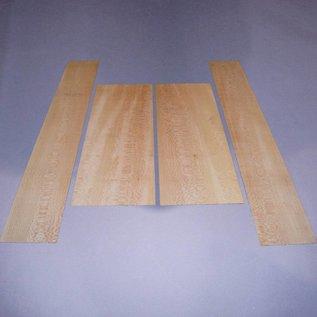 Plane set bottoms & sides, B: 570 x 220 x 4 mm, S: 870 x 140 x 4, 1,2 kg, mirror cut