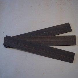 Ebenholz schwarz Griffbrett 520 x 70 x 8 mm, 0,6 kg