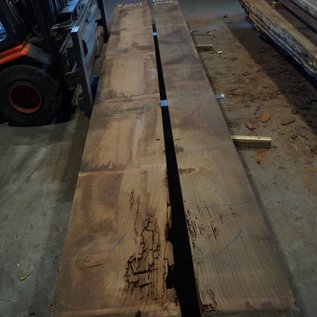 Redwood table top approx. 4900 x 550/380 x 80 mm, 237 kg
