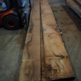 Redwood table top approx. 4900 x 500/400 x 80 mm, 229 kg