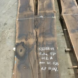 Smoked  oak table top, approx. 3500 x 1080 x 65 mm, approx. 180 kg