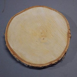 Birch slab round approx. 220 x 220 x 20 mm, 0,5 kg