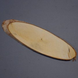 Birch slab oval approx. 280 x 80 x 10 mm, 0,2 kg