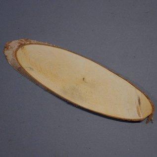 Birkenscheibe oval ca. 280 x 80 x 10 mm, 0,2 kg