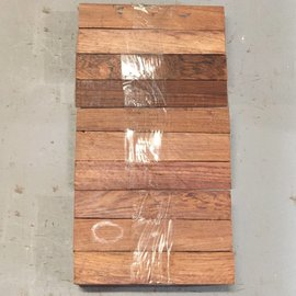 Honduras Rosewood Set of 10 approx. 175 x 30 x 30 mm