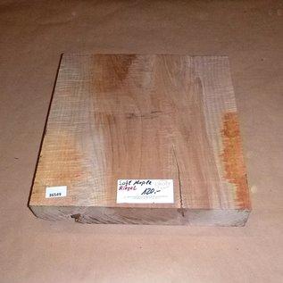 Soft Maple rippled approx. 400 x 400 x 80 mm, 8,3 kg