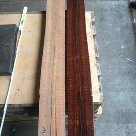 Snakewood, Half log pair, approx. 1,20 m lang, 25,85 kg