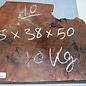 Sindora Burl, approx. 470 x 370/270 x 55 mm, 7,7 kg