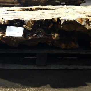 Buckeye Burl table top, approx. 2000 x 1900 x 250 mm, ca. 170 kg