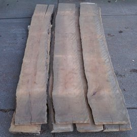 Pearwood fiddleback, 35 mm thick, lumber, 7 boules, BBR-8