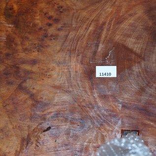 Camphor burl table, slab approx. 740 x 570 x 60 mm, height 60 cm, 11410