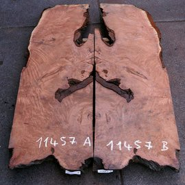 Redwood Burl tabletop, approx. 1800 x 600/600 x 55 mm, 11457 a+b