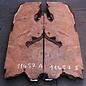 Redwood Maser Tischplatte, ca. 1800 x 600/600 x 55 mm, 11457 a+b