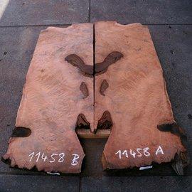 Redwood Maser Tischplatte, ca. 1850 x 650/650 x 55 mm, 11458
