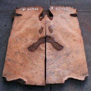 Redwood Burl tabletop, approx. 1850 x 650/650 x 55 mm, 11458 a+b