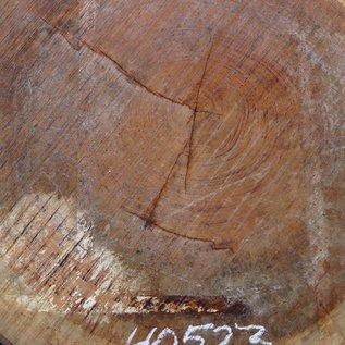 Bubinga Slab, Ø approx. 900 x 75 mm thickness, 40523