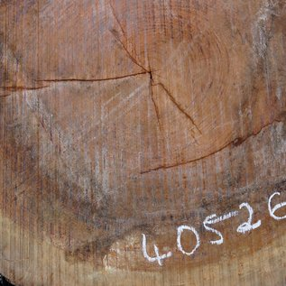 Bubinga Slab, Ø approx. 900 x 70 mm thickness, 40526