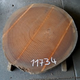 Sipo Mahagoni Baumscheibe, Tischplatte ca. 1150 x 1200 x 100 mm, 73 kg, 11734