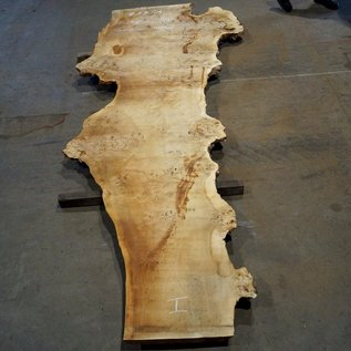 Mappa burl table top, approx. 3400 x 800 (1400) x 52 mm, 11668