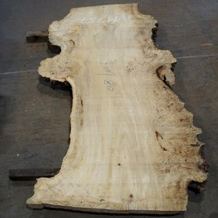 Mappa burl table top, approx. 2000 x 800 (1200) x 65 mm, 11757