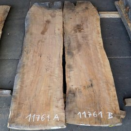 Pearwood, mirror table top, approx. 1800 x 500/500 x 65 mm, 11761