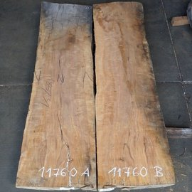 Pearwood, mirror table top, approx. 1800 x 500/500 x 65 mm, 11760