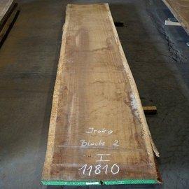 Iroko, Kambala table top, approx. 4200 x 910 x 55 mm, 11810