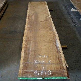Iroko, Kambala Tischplatte, ca. 4200 x 910 x 55 mm, 11810