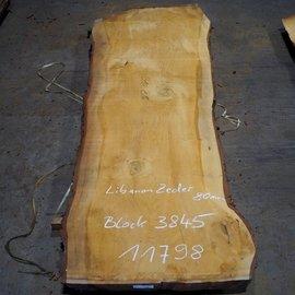 Libanon Cedar, table top, approx. 3100 x 800/880/1170 x 80 mm, 11798