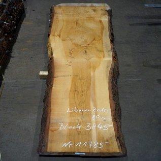 Libanon Zeder, Tischplatte, ca. 3100 x 750/900/1230 x 80 mm, 11785