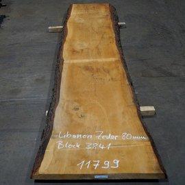 Libanon Zeder, Tischplatte, ca. 3000 x 700 x 80 mm, 11799