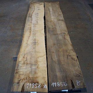 Esche Tischplatte, paar, gespiegelt, ca. 3850 x 580/540 x 52 mm, 11856