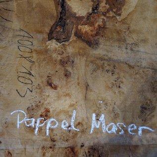 Pappel Maser Tischplatte, ca. 1000 x 1030(1260) x 80 mm, 11844