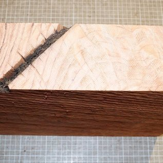 Redwood flamed, approx. 330 x 300 x 65 mm, 3,6 kg