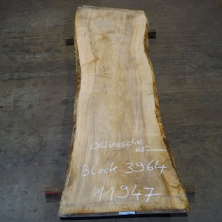 Oliv-Esche Tischplatte, ca. 2400 x 640 x 65 mm, 11947