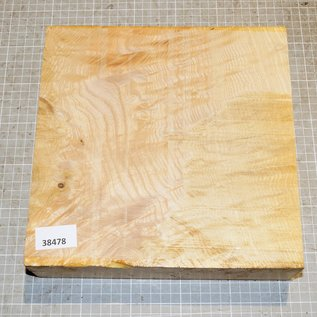 Ash burl/fiddleback, approx. 255 x 255 x 65 mm, 3,0 kg