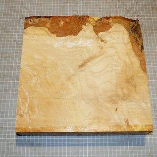 Ash burl/fiddleback, approx. 300 x 300 x 65 mm, 4,2 kg