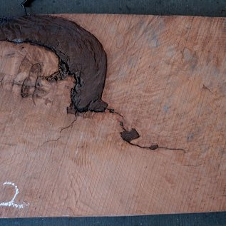 Redwood Maser, ca. 1250 x 520 x 70 mm, 60802
