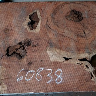Redwood burl, approx. 800 x 610 x 52 mm, 60838