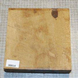 African birch, approx. 200 x 200 x 54 mm, 2,4 kg