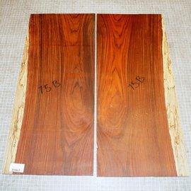 Cocobolo Palisander, Gitarren Böden, ca. 550 x 230 x 3 mm, ca. 1,1 kg