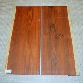 Cocobolo rosewood, guitar bottoms, approx. 550 x 230 x 3 mm, ca. 1,1 kg
