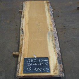 Iroko, Kambala, Tischplatte, ca. 2900 x 820 x 65 mm, 12153
