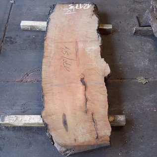 Pearwood, table top, approx. 1700 x 540(600) x 52 mm, 12173