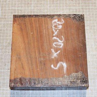 Cocobolo Palisander ca. 200 x 200 x 50 mm, 2,1 kg