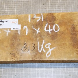 Golden Madrone burl approx. 400 x 180 x 45 mm, 3,2 kg