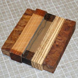Penblanks 5er Set, Schreiber Rohlinge, ca. 20 x 20 x 110 mm