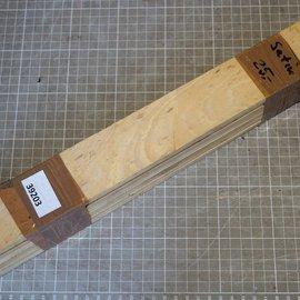 Satinwood, B-Quality, approx. 420 x 50 x 7 mm, 1,1 kg